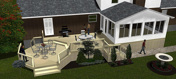 Outdoor Living 3D Rendering Service