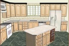 3D Rendering Kitchen Remodel