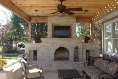 Outdoor Living Stone Fireplace